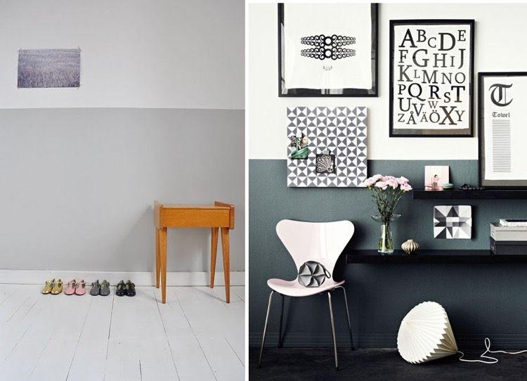 ide dco peinture intrieur maison les murs bicolores respirent lquilibre - Decoration De Mur Interieur En Peinture