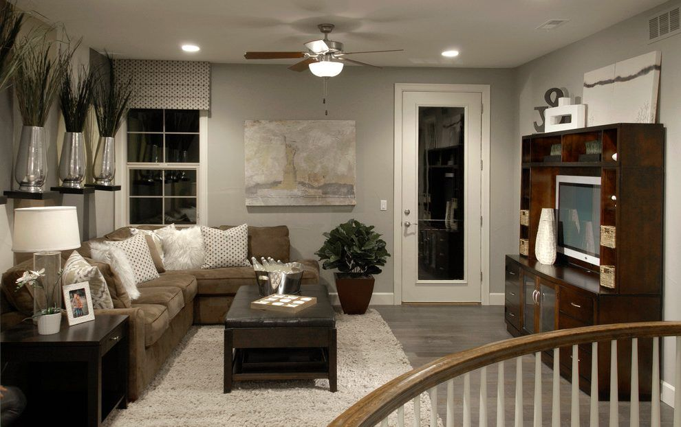 Grey wood flooring bedroom contemporary with gray wood ...