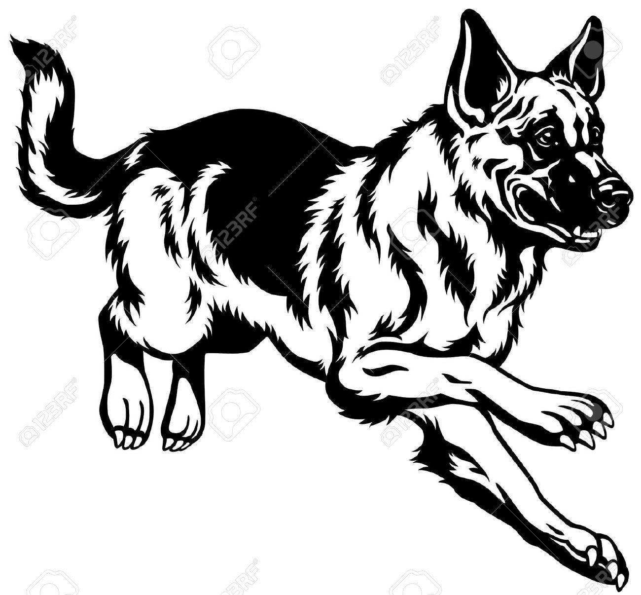 German shepherd dog german in alsatian dog clipart collection clipartfox
