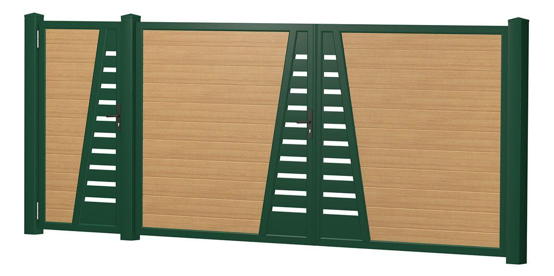 Privacy screen courtyard gate-door combination plastic – mountain pine -…