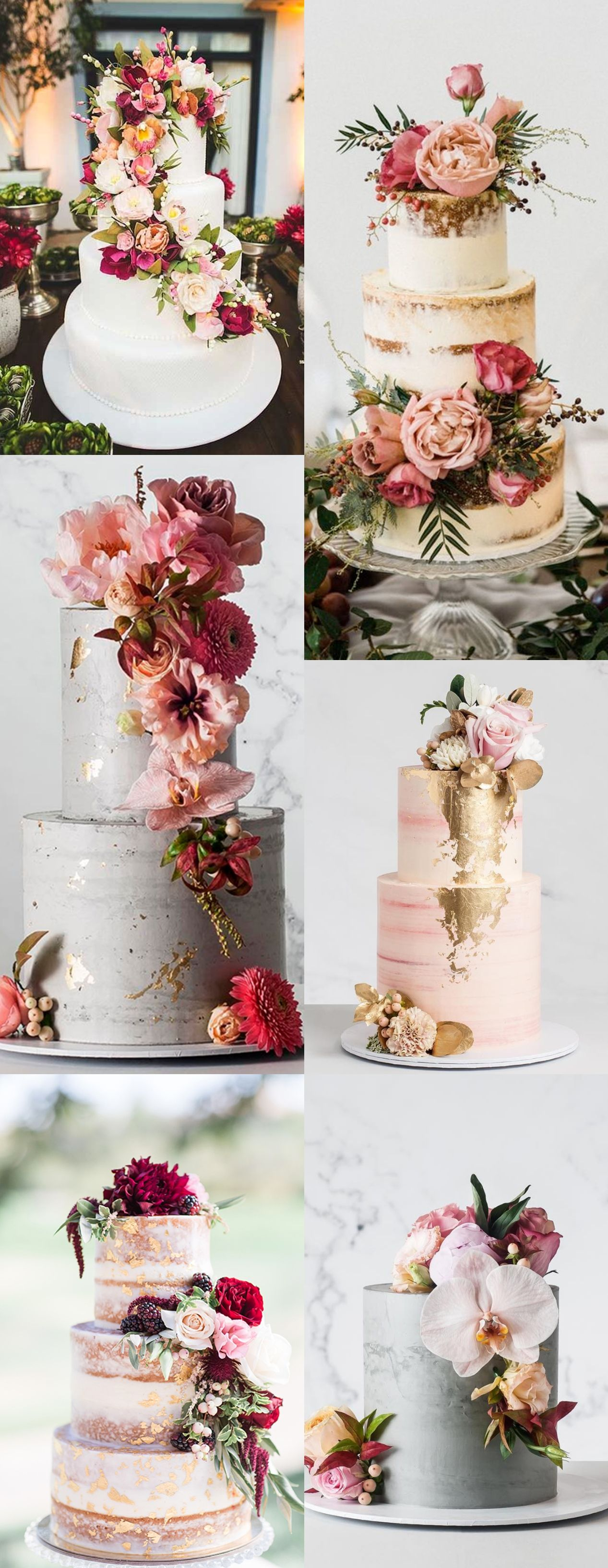 Top 10 Wedding Cake Trends for 2020 Tall wedding cakes