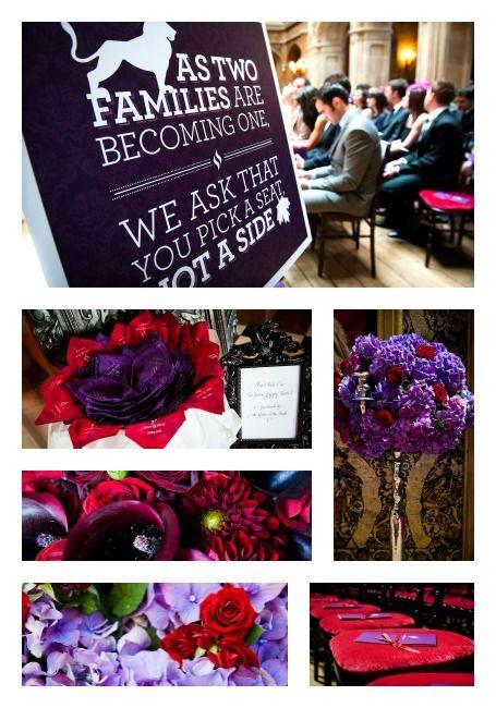 Eggplant Crimson Wedding Colors Red Purple Wedding Red