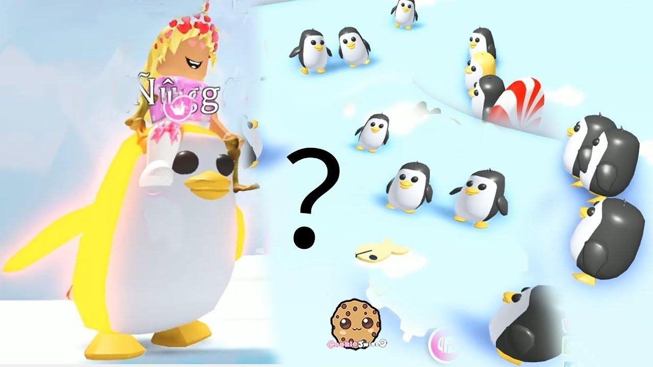 Rare Gold Penguin Let S Play Roblox Adopt Me Video Game Play Roblox Roblox Cookie Swirl C