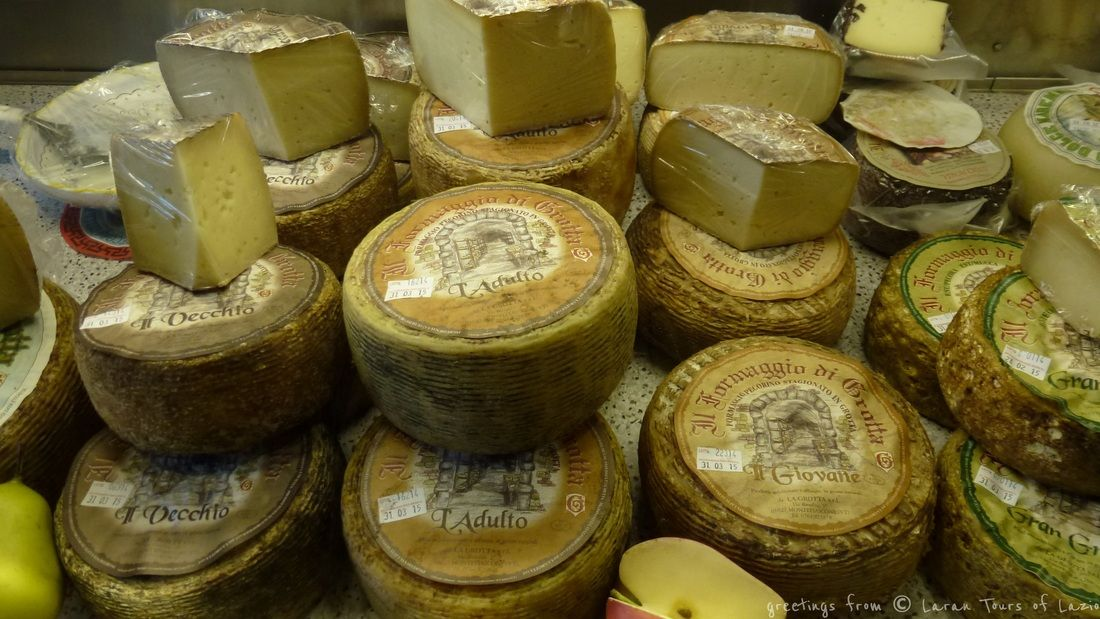 Mouthwatering delicious natural cheeses made mostly from sheeps' milk following ancient tradition of maturing in underground caves #montefiascone #italy