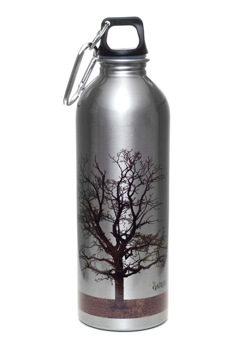 Earthlust 1 Liter Tree Stainless Steel Metal Water Bottle Metal Water Bottle Water Bottle Stainless Steel Water Bottle