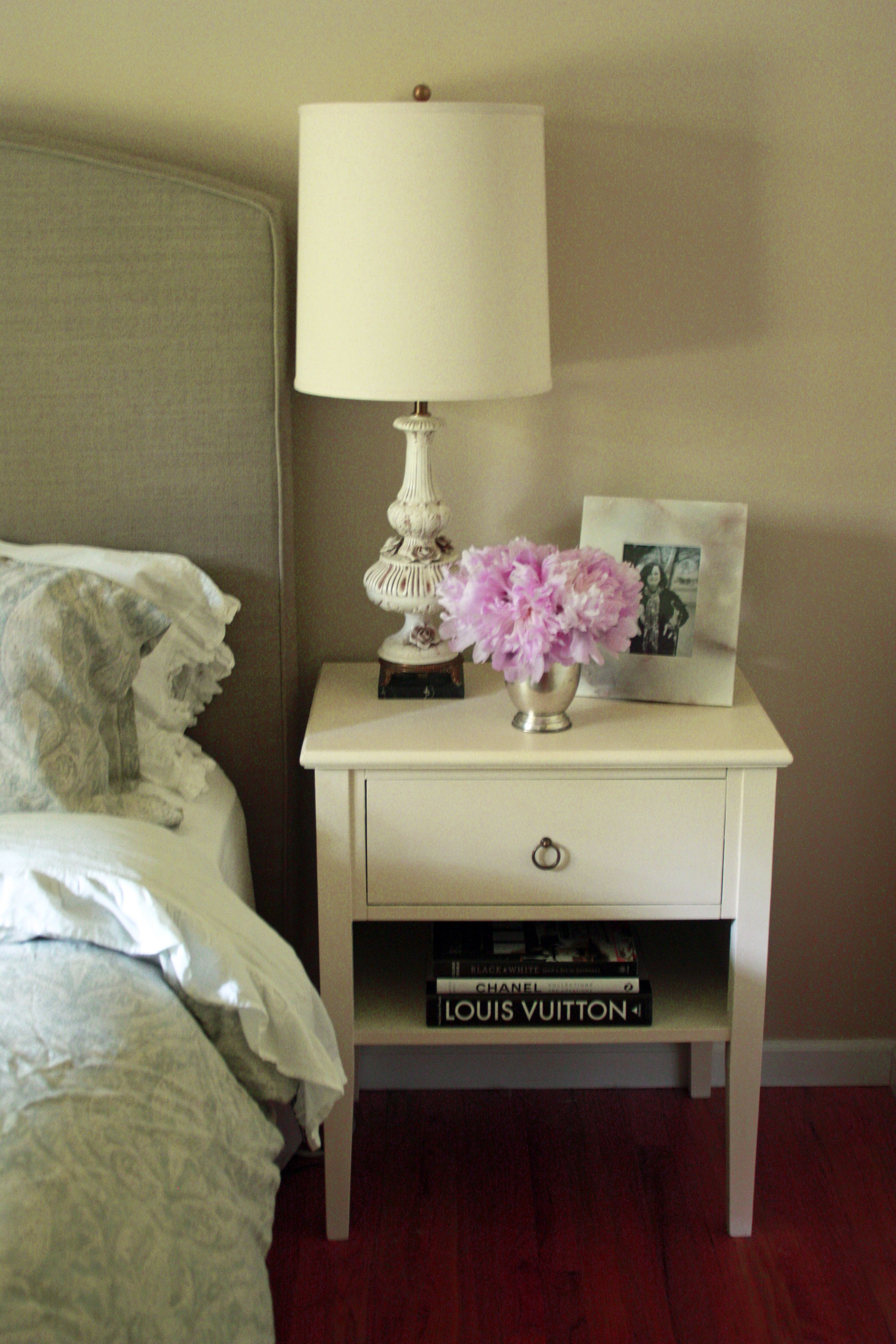 Bedrooms And More Seattle Decor bedside tables, annie sloan chalk paint in old white. marianne