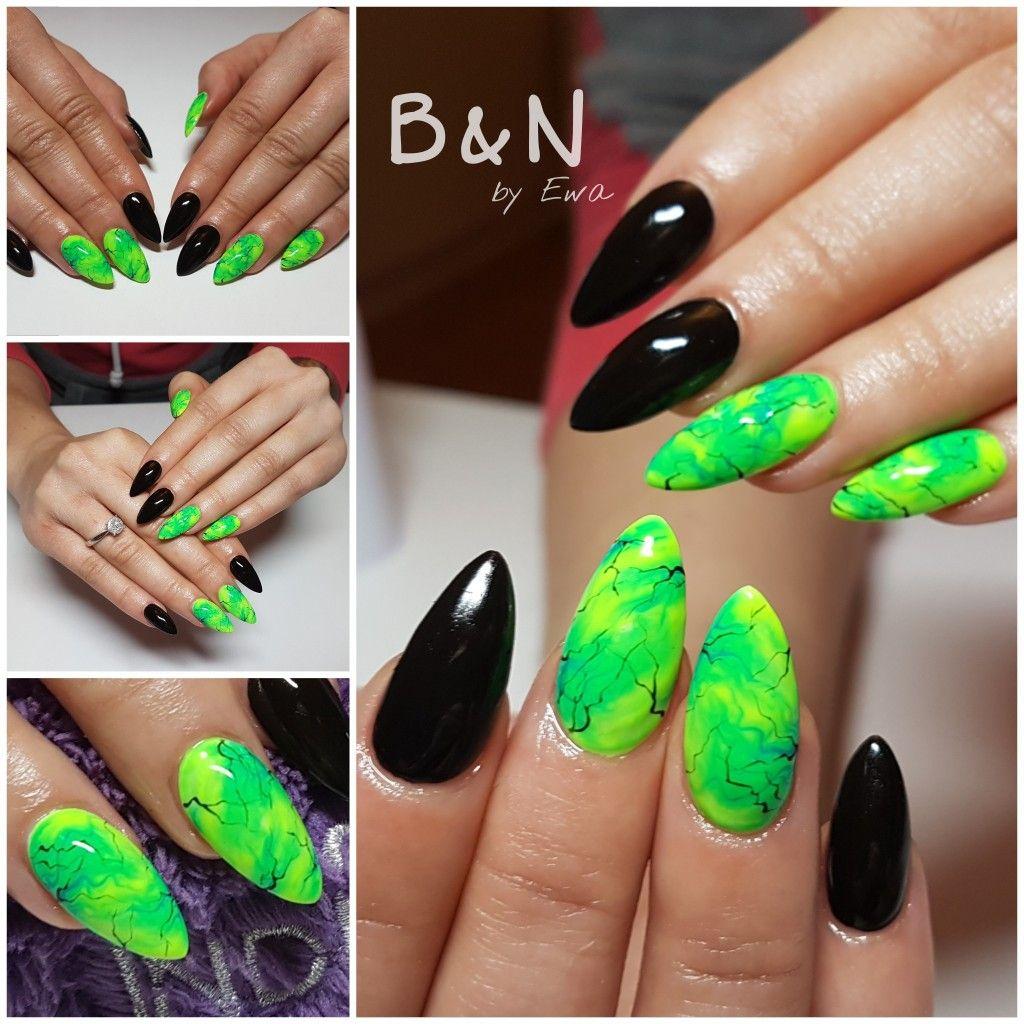 c1c038cef754c9 zielone #paznokcie #greennails   paznokcie w 2019   Paznokcie i ...