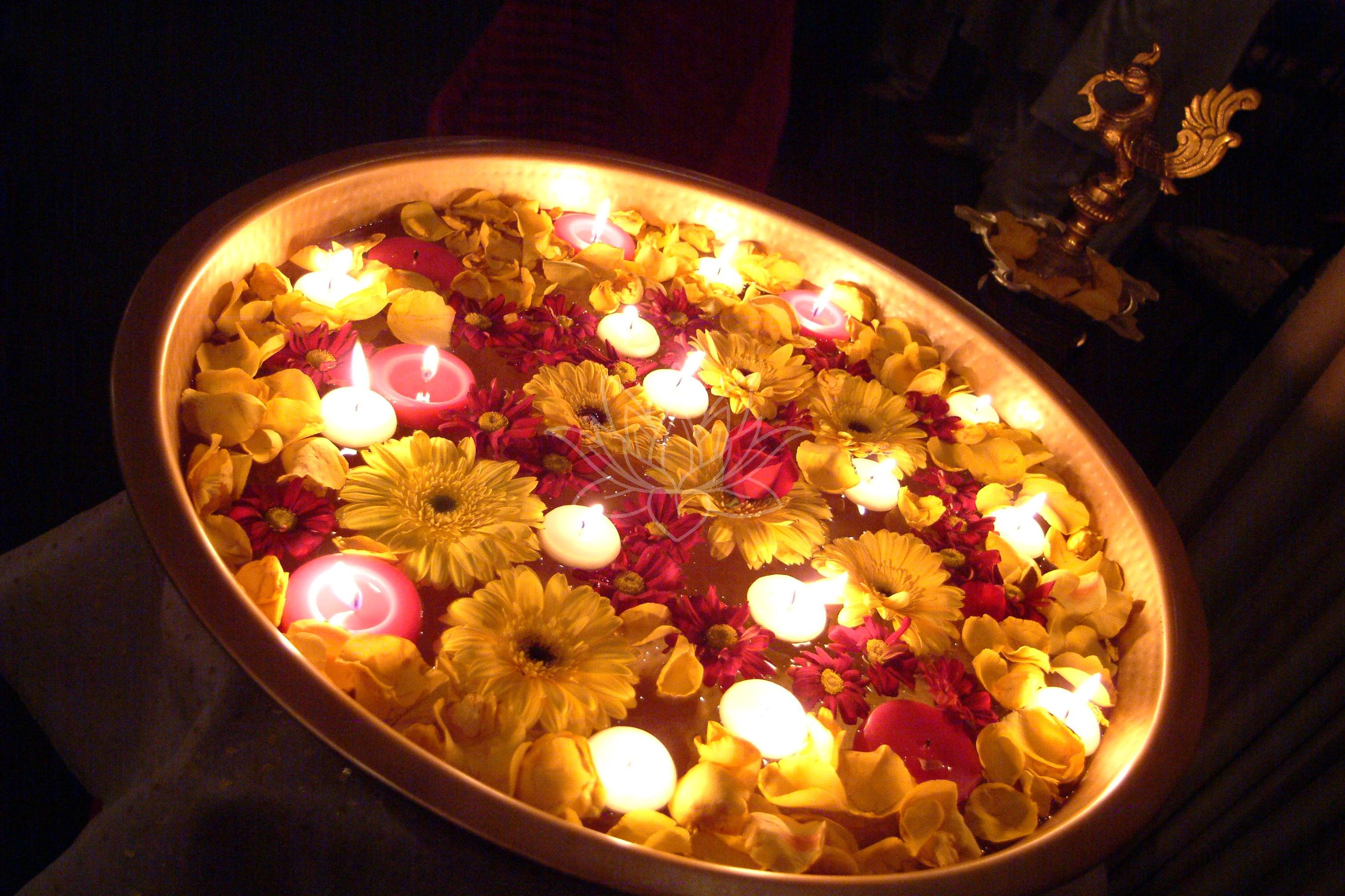 Image result for floating candles and flowers india   d e c o r ... for Diwali Decoration Tips And Ideas For Home  153tgx