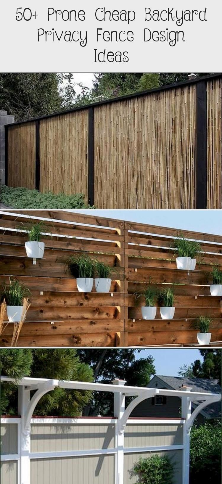 Photo of 50+ Prone Cheap Backyard Privacy Fence Design Ideas #yard #backyard #backyarddes…