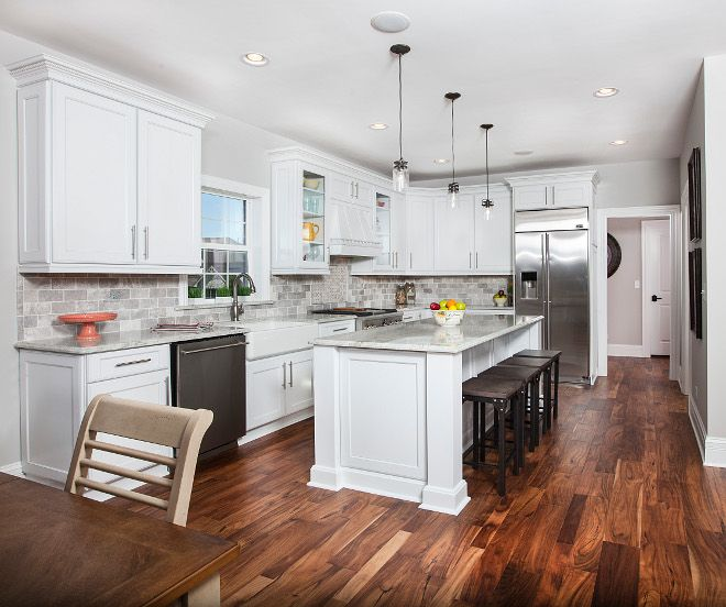 Best Kitchen Hardwood Flooring And Sherwin Williams Pure White 400 x 300