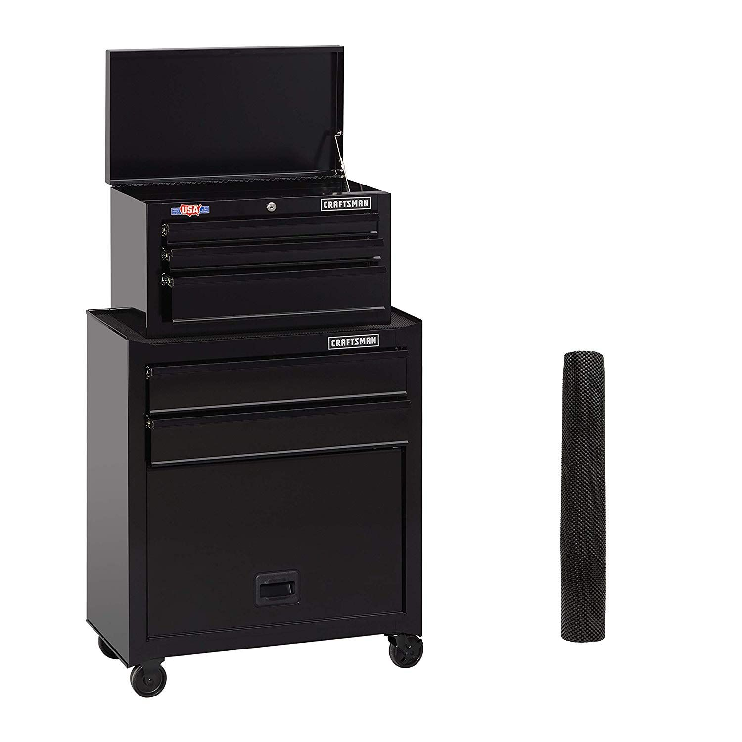 Craftsman Tool Chest Combo 26 Inch 5 Drawer Black Cmst82763bk Click Image To Review More Details Craftsman Tools Chest Craftsman Tools Locker Storage