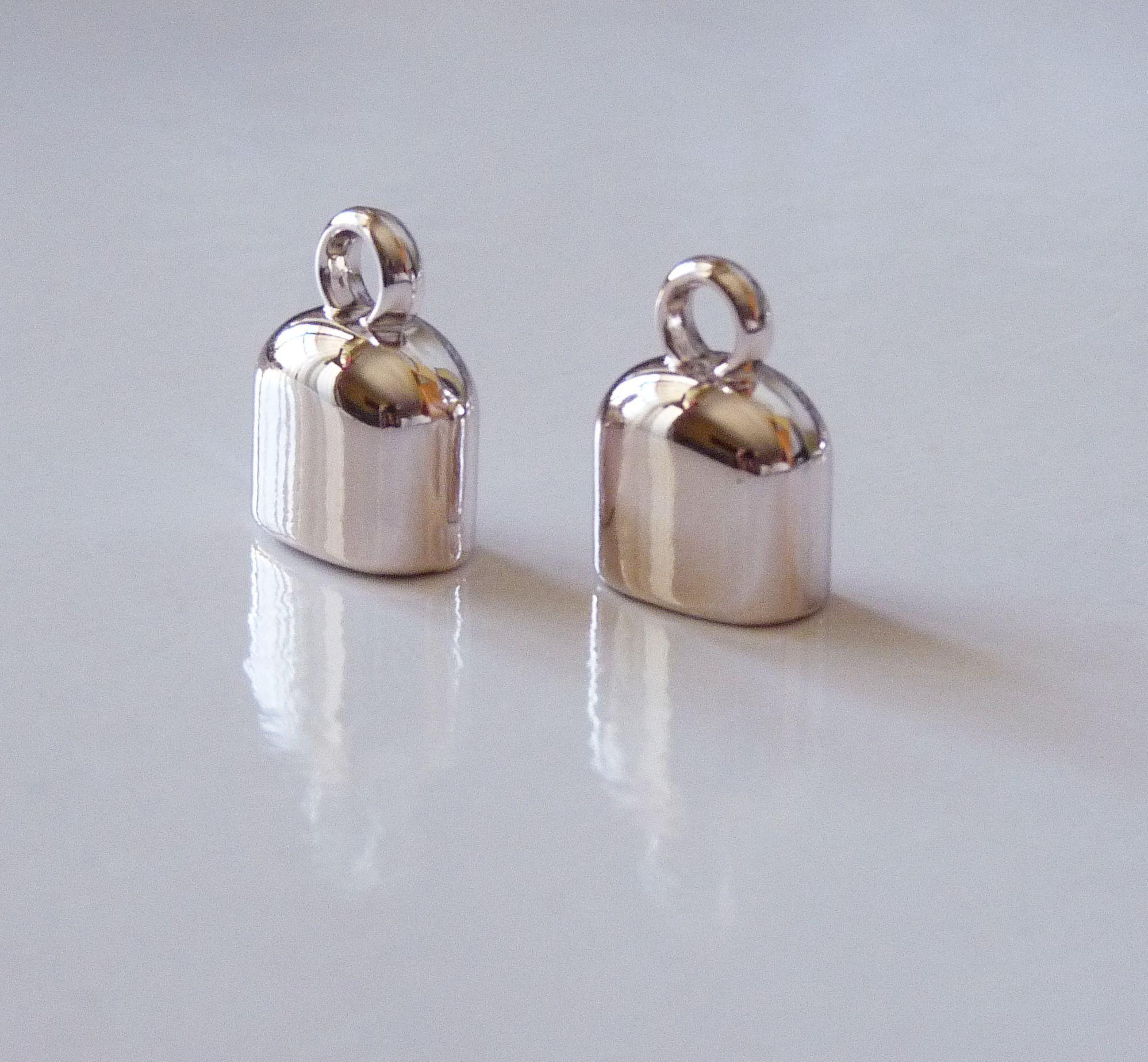 12 x Silver Tone Bead Cone For Earrings /& Pendants Jewellery Findings