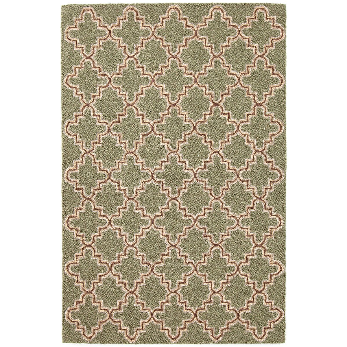 Go Green With Our Best Selling Vintage Style Wool Area Rug In An Old World Tile Inspired Pattern Rugs Area Rugs Wool Area Rugs