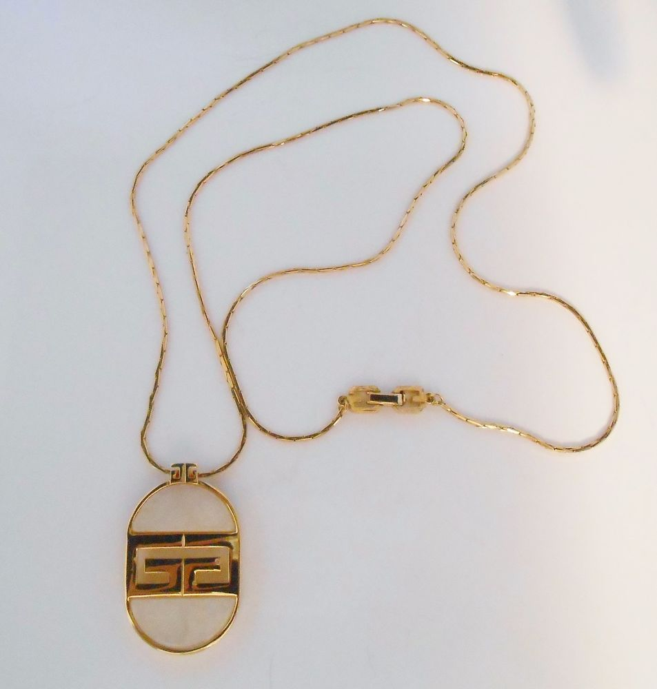 Givenchy Necklace 1982 Pendant Logo Jewelry #Givenchy #Pendant