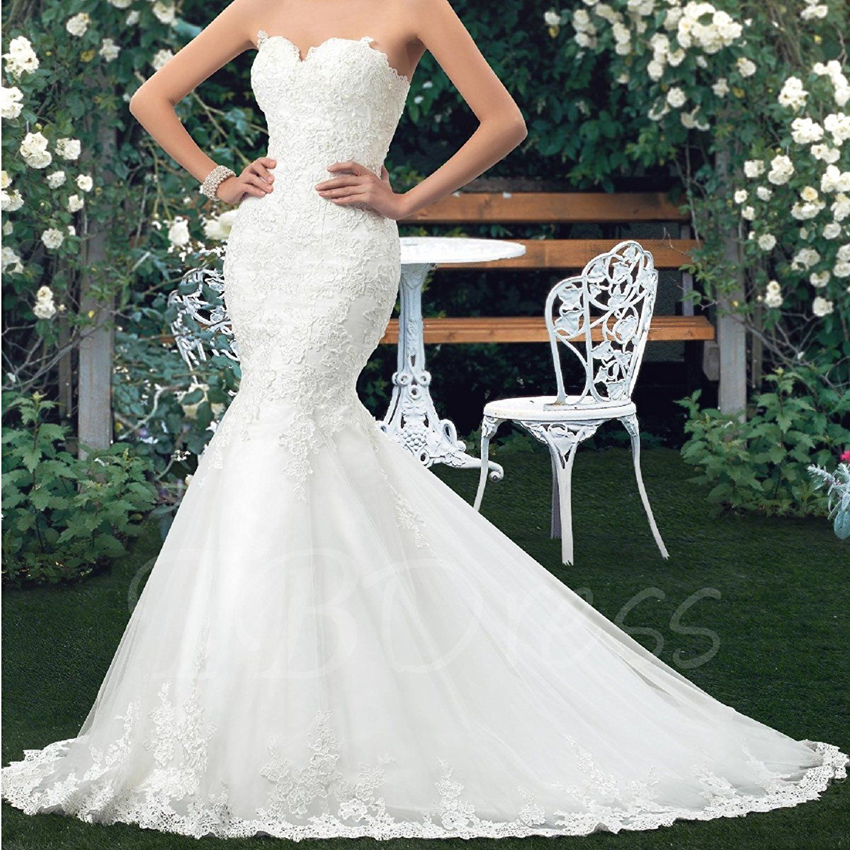 Oyisha Womens Sweetheart Mermaid Wedding Dress Lace Bridal Dresses Long Wd162 At Amazon Wome Online Wedding Dress Lace Sweetheart Wedding Dress Wedding Dresses [ 1500 x 1500 Pixel ]
