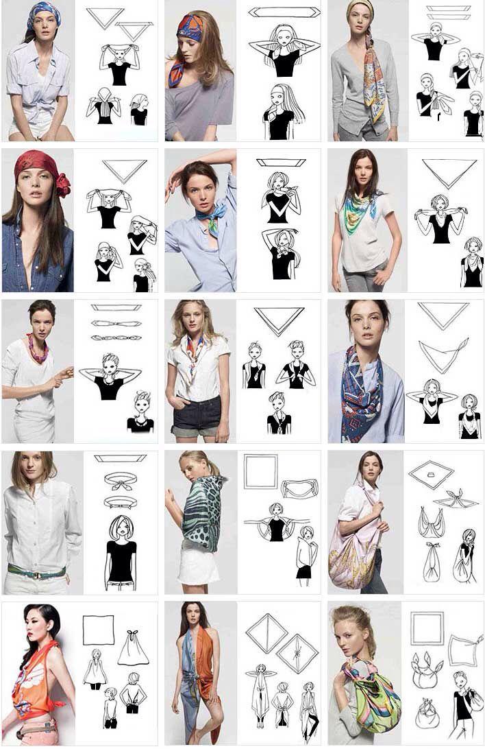 15 formas de usar una #mascada | #scarf | Tips de Moda y Estilo ...