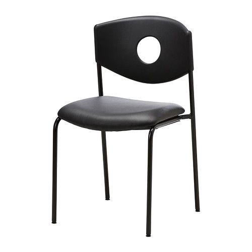 black furniture ikea. IKEA STOLJAN Conference Chair Blackblack The Chairs Are Stackable Black Furniture Ikea