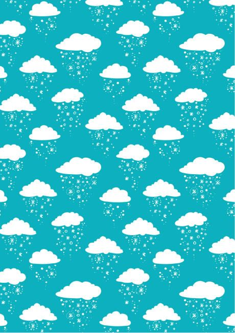 Snow cloud scrapbook paper
