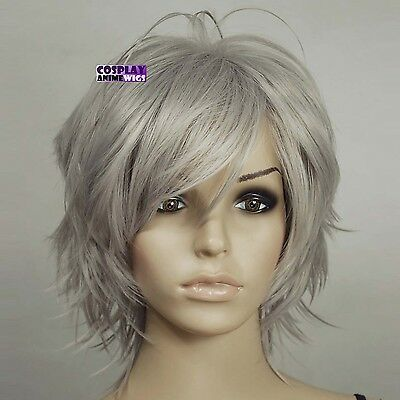 Details about 40cm Dark Grey Heat Styleable Hand Spikeable Shaggy Cut Cosplay Wigs 64_906