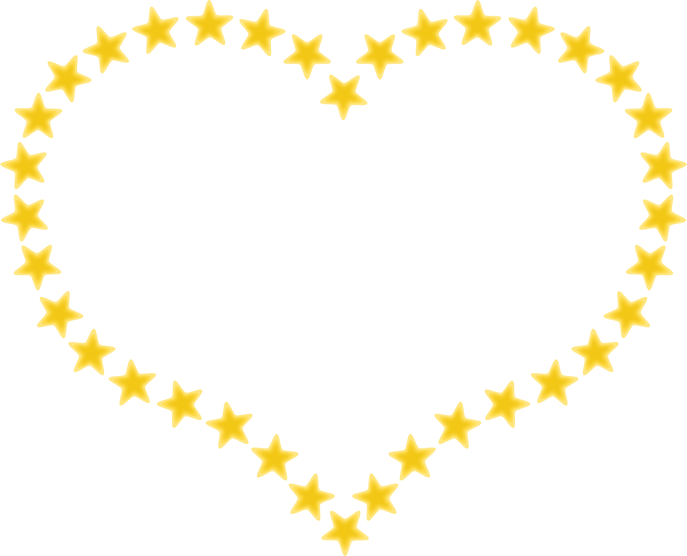heart shaped border with yellow stars by pixabella illustration rh pinterest com Celebration Border Clip Art Small Design Borders Clip Art