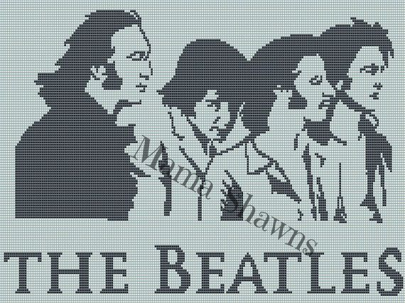 The Beatles Graphghan Written Pattern By Mamashawns On Etsy