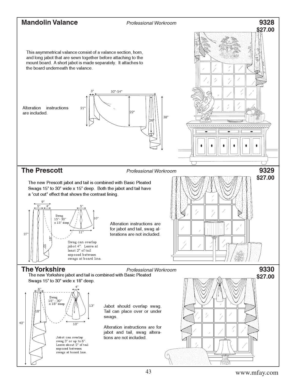 ISSUU - 2013 M\'Fay Patterns Catalog by Custom Home Furnishings ...