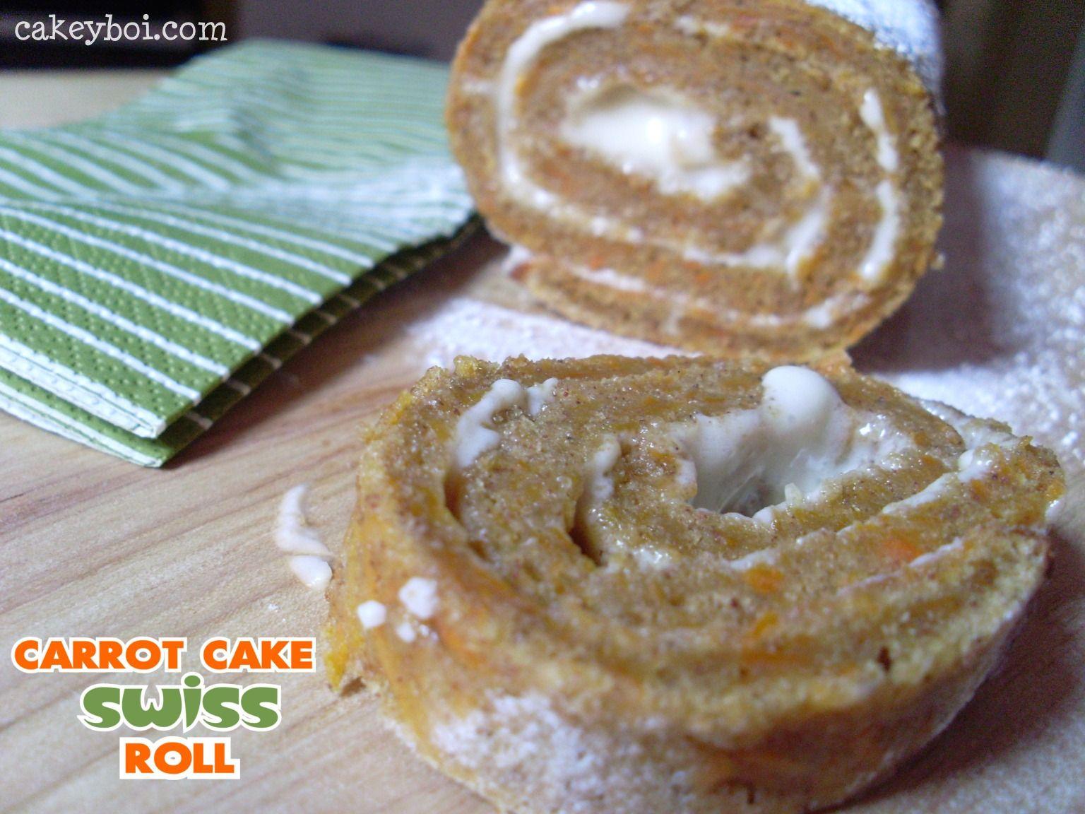Carrot Cake Swiss Roll