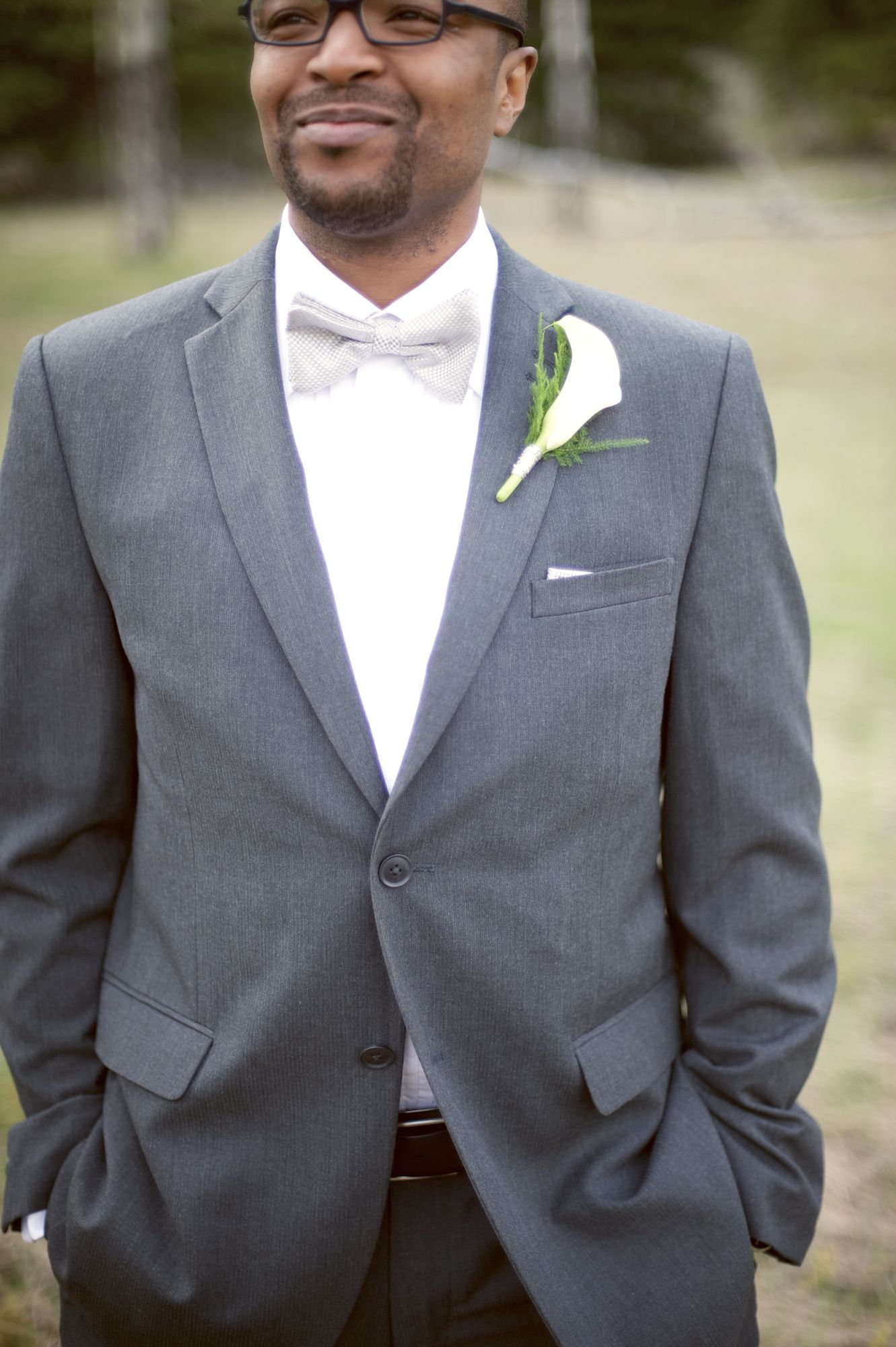 grey suit and bow tie! #wedding #fashion #suit | He Asked Me To ...