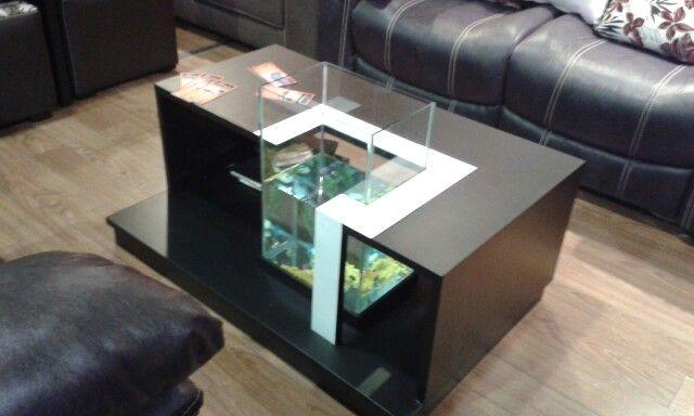 Mesa de centro con pecera mesas de centro pinterest - Centros de mesa con peceras ...