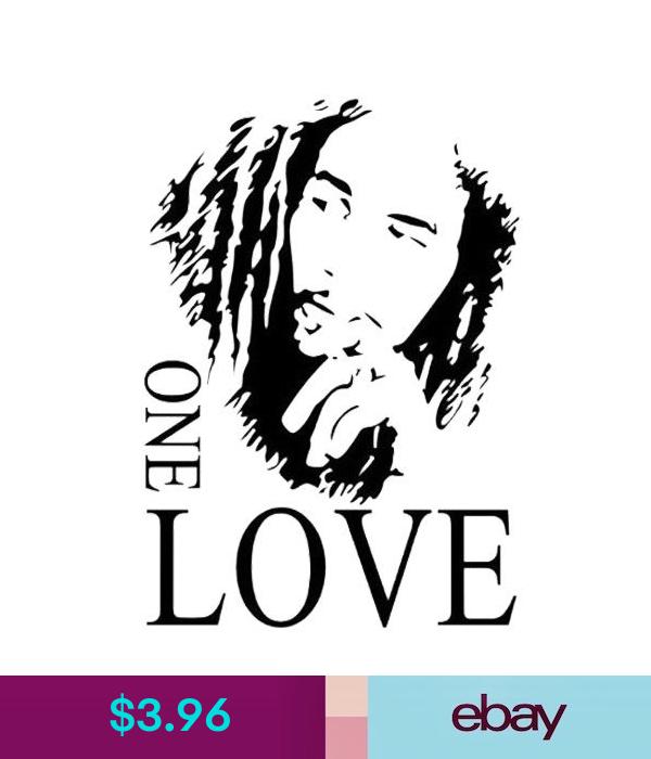 Wall Stickers Bob Marley One Love Vinyl Art Mural Wall Sticker Room Fan Black 4361cm P8q D5b1 Ebay Home Garden Bob Marley Bob Marley Art Marley
