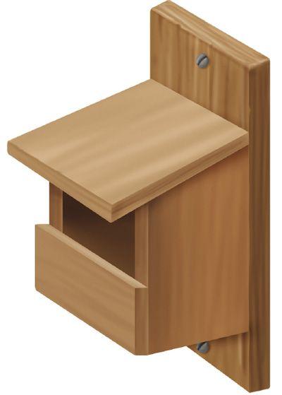 nichoir pour des merles des tourterelles et des grives nichoir woodworking projects diy. Black Bedroom Furniture Sets. Home Design Ideas