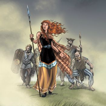 Boudicca The Warrior Queen A Fun Poem For Kids Warrior Queen Celtic Warriors Warrior