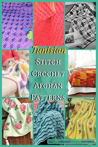 28 Tunisian Stitch Crochet Afghan Patterns | Tunisian Crochet by ...