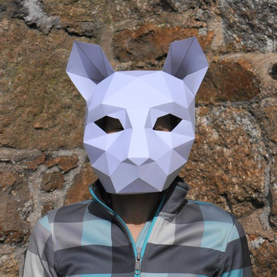 Cat or Tiger Mask - Make your own with this simple PDF | Pinterest ...