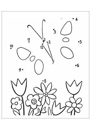 Genius Kids Zone Aktiviti Menyambung Titik Titik Nombor Menjadi Gambar Bunga Gambar Bunga Lembar Kerja