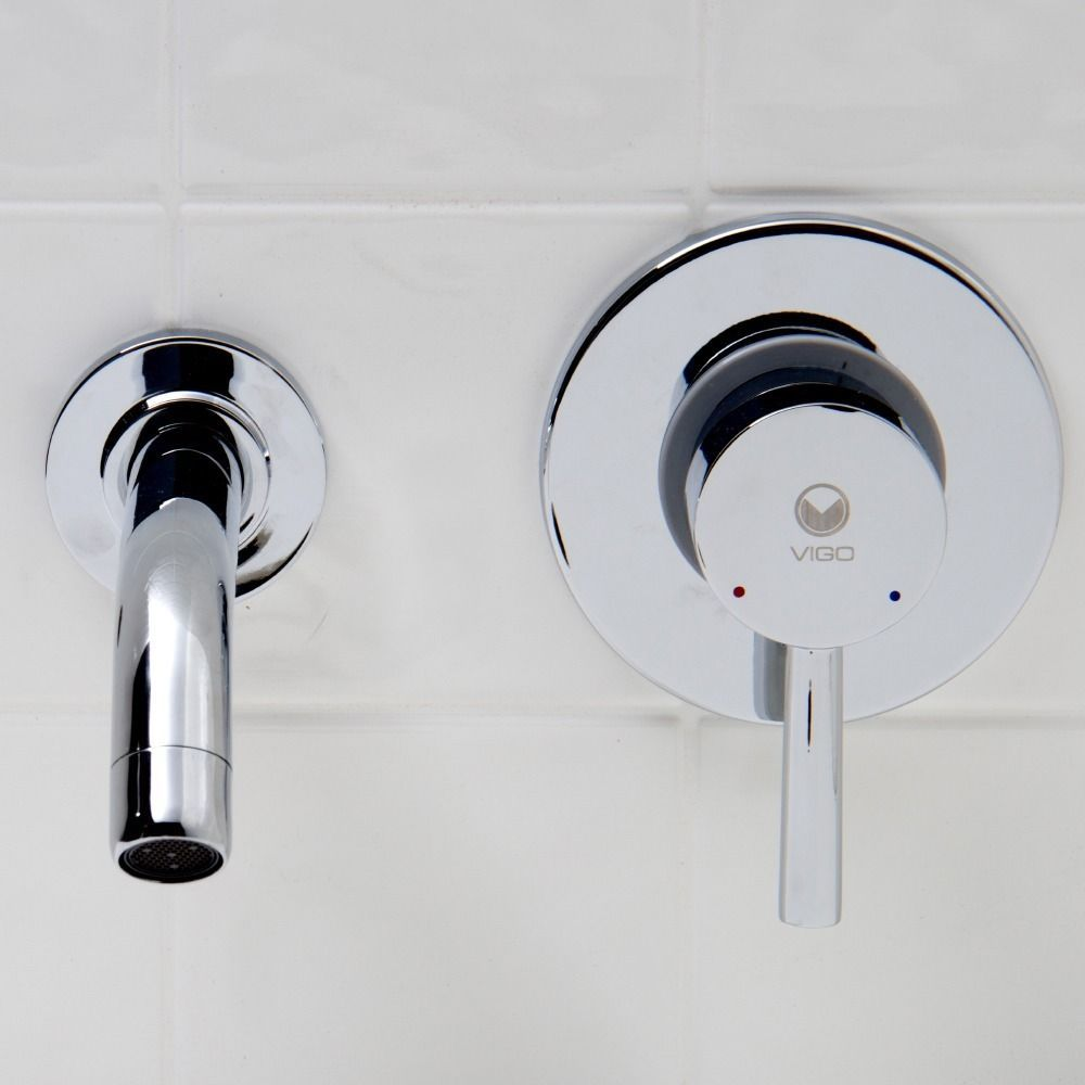 This VIGO Olus single lever wall mounted faucet in Chrome brings a ...