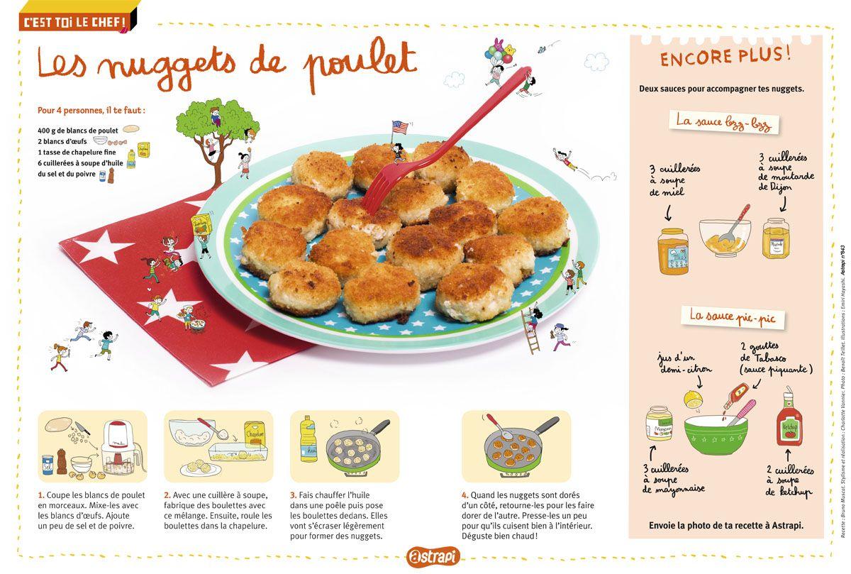 La recette des nuggets de poulet dans la magazine astrapi du 1er septembre 2015 n 843 une - Magazine recette de cuisine ...