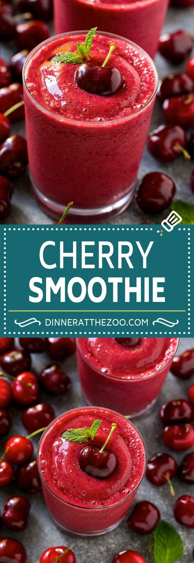 Cherry Smoothie Recipe | Healthy Smoothie | Easy Smoothie #cherry #smoothie #drink #dinneratthezoo #fruitsmoothie