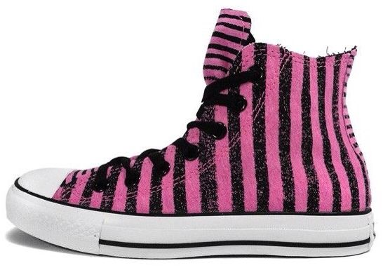 Converse Chuck Taylor Striped Tee High Top (pink black