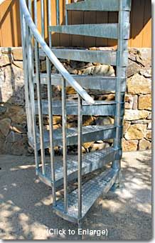 Best Galvanized Spiral Stairs Spiral Staircases 400 x 300