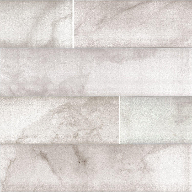 Marazzi piazza vita elegante bianco 6 x 24 glazed porcelain floor marazzi piazza vita elegante bianco 6 x 24 glazed porcelain floor tile dailygadgetfo Images