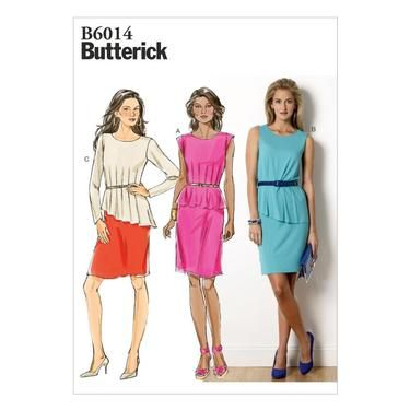 Butterick B6014 Misses Dress Spotlight Australia Sewing