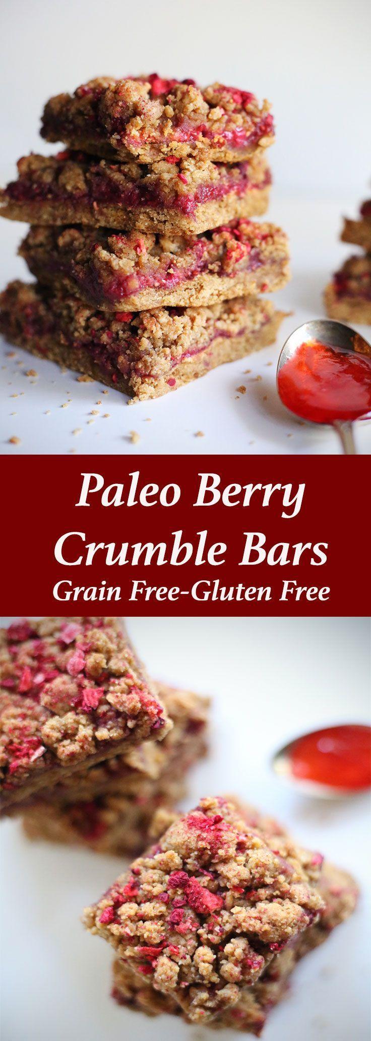 Paleo Berry Crumble Bars - The Paleo Paparazzi