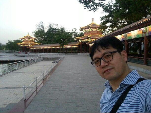 Tianjin 수상공원에서