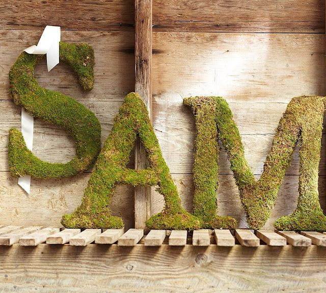 Moss Covered Letters Extraordinary How To Make Knock Off Pottery Barn Mosscovered Letters Diy Decorating Design