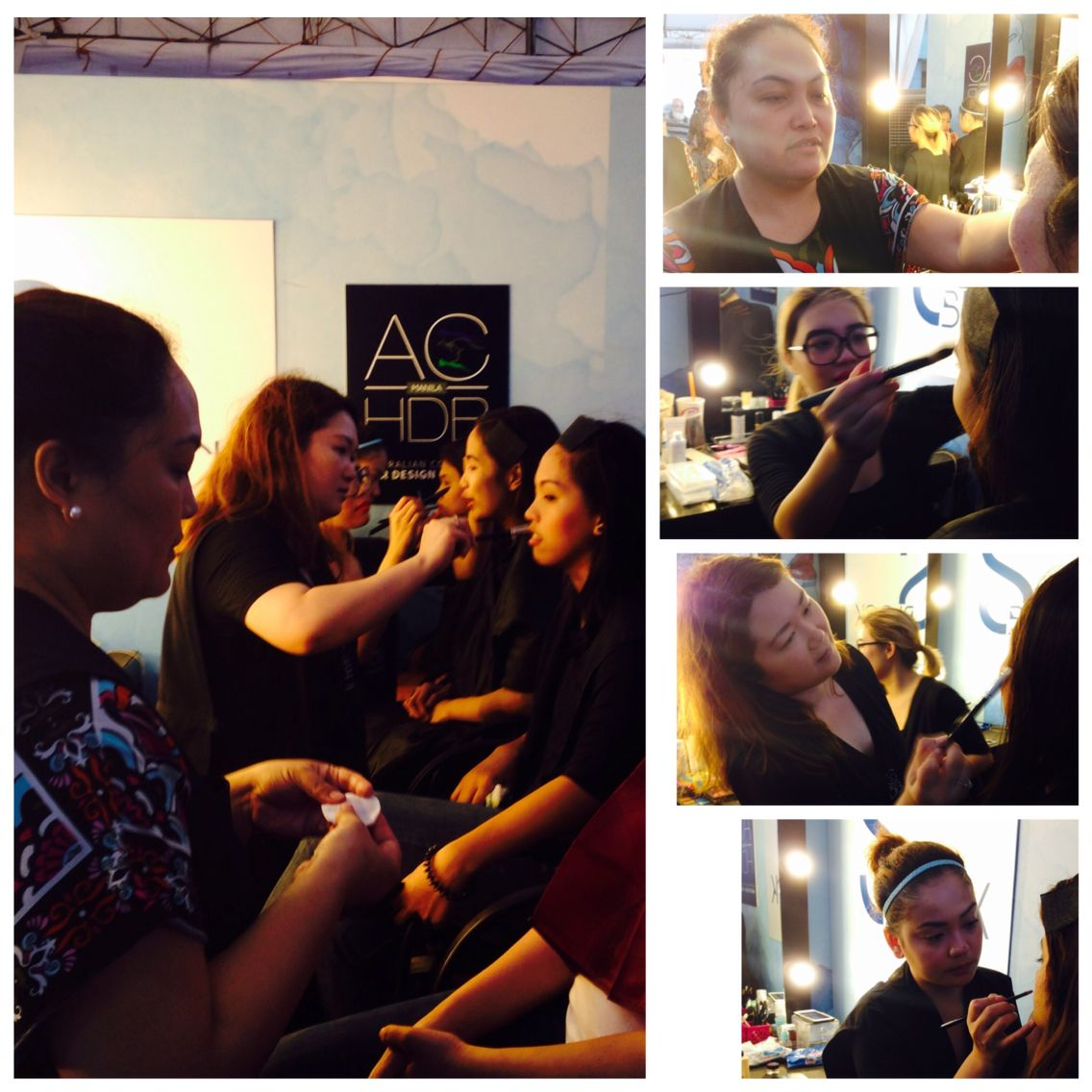 Diploma of Makeup Specialist students doing makeup for Sony Channel Philippines.