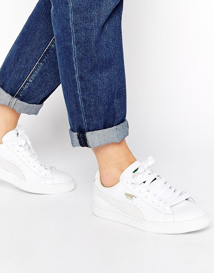 code promo de350 9f2dc Puma | Puma Basket Classic White Trainers at ASOS | Shoes ...
