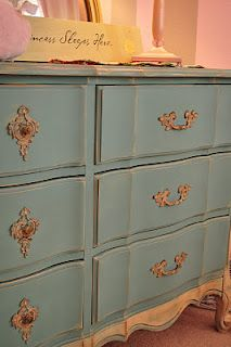 Dresser in Provence with Old Ochre accents and clear wax