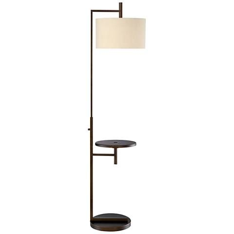 Tray Table Floor Lamp With Usb Port