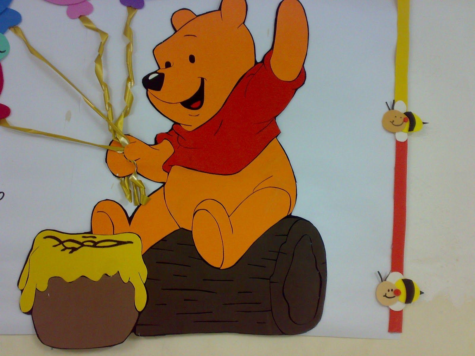 Decoração de sala de aula Ursinho Pooh | Winnie party | Pinterest ...